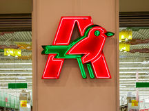 Auchan trade mark Stock Photos