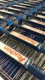 Auchanboodschappenwagentjes Royalty-vrije Stock Foto's