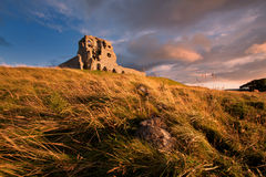 Auchindoun Castle, Dufftown, Moray, Scotland. Is a ruined 15th century tower fortress with historic connections to the Ogilvy and Gordon Clans, and the Jacobite Stock Photo