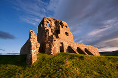Auchindoun Castle, Dufftown, Moray, Scotland. Is a ruined 15th century tower fortress with historic connections to the Ogilvy and Gordon Clans, and the Jacobite Stock Image