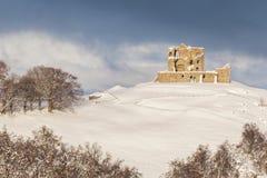 Auchindoun Castle Ruins in Moray. Auchindoun Castle Ruins in Winter in Moray, Scotland Royalty Free Stock Photography
