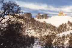 Auchindoun Castle ruins in Scotland. Winter view of Auchindoun Castle ruins in Moray, Scotland Stock Photography