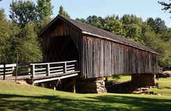 Auchumpkee Creek Covered Bridge in Culloden Georgia USA stock photo