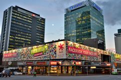 Auckland на ноче Стоковое Изображение RF