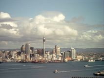 Auckland. Skyline of the city of Auckland Stock Photo
