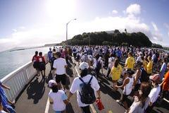 Auckland alrededor de la corrida de la diversión de las bahías Imagen de archivo libre de regalías