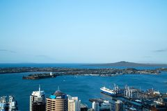 View from Sky Tower in Auckland, Australia Royalty Free Stock Image