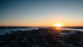 Auckland bij schemer royalty-vrije stock fotografie