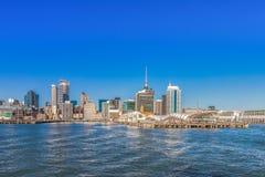 Auckland CBD et terminal du ferry du centre Photo stock