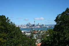 Auckland CBD från Devonport Royaltyfria Foton