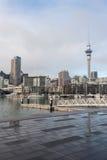 Auckland CBD with marina Stock Photos