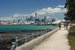 Auckland CBD od Devonport Obrazy Stock