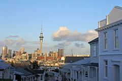 Auckland CBD skyline as seen east from Ponsonby Royalty Free Stock Photo