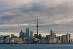 Auckland CBD at sunset Stock Image