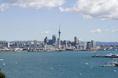 Auckland City CBD & container Stock Images