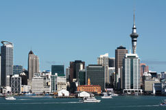 Auckland City CBD, Sky Tower & Waterfront Royalty Free Stock Image