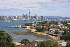 Auckland City and Devonport Royalty Free Stock Images
