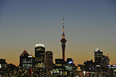 Auckland City at dusk Royalty Free Stock Images