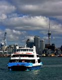 Auckland City and Ferry Royalty Free Stock Photos
