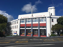 Auckland City Fire Station in Auckland New Zealand. Stock Photos