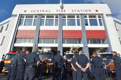 Auckland City Fire Station New Zealand Stock Image