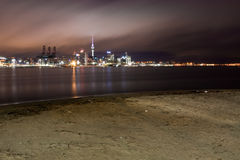 Auckland city at first light. Stock Images