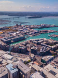 Auckland city harbor aerial view royalty free stock photos