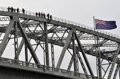 Auckland City Harbour Bridge Stock Photo