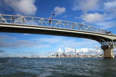 Auckland City and Harbour Bridge Royalty Free Stock Image