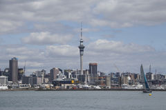 Auckland city and harbour, New Zealand Royalty Free Stock Images