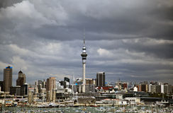 Auckland City Harbour Skyline Royalty Free Stock Photography
