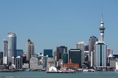Auckland City and Harbour with Skytower Royalty Free Stock Image