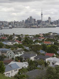 Auckland city and harbour, view from Devonport Royalty Free Stock Image