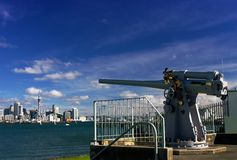 Auckland City Naval Gun  Stock Photography