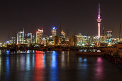 Auckland City, New Zealand. Auckland City and Sky Tower at Night, Auckland, New Zealand Stock Photos