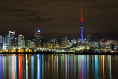 Auckland City at night Royalty Free Stock Image