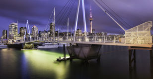 Auckland City at night Stock Images