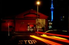 Auckland City Night View Royalty Free Stock Images