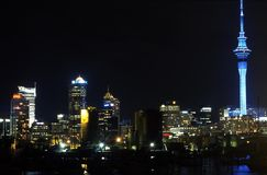 Auckland City Night View Stock Image