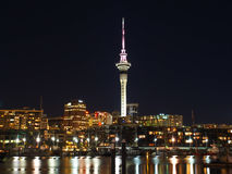 Auckland City at night Royalty Free Stock Photos