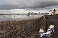 Auckland city from North Shore. Stock Photography