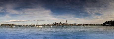 Auckland City Panoramic Royalty Free Stock Photos