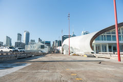 Auckland city real estate from Queens Wharf. Stock Image