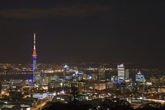 Auckland City & Sky Tower at N Stock Photography