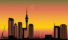 Auckland city skyline Royalty Free Stock Photo