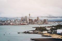 Auckland City Skyline, New Zealand Stock Photos