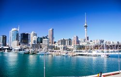Auckland city skyline on a sunny day stock photo