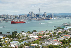 Auckland city skyline view. Auckland is the largest and most populated city in New Zealand, with a population of over one million Royalty Free Stock Photo