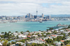 Auckland city skyline view. Auckland is the largest and most populated city in New Zealand, with a population of over one million Royalty Free Stock Photos