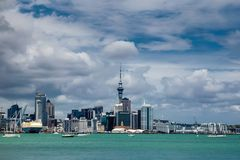 Auckland skyline view from Stanley Bay park. Auckland city skyline view from Stanley Bay park, New Zealand Stock Photography